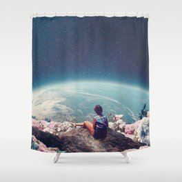 My World Blossomed when I Loved You Shower Curtain