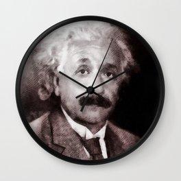 Albert Einstein by JS Wall Clock
