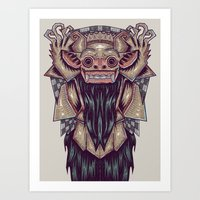 indonesia Art Prints featuring Barong Indonesia by Ahmad Mujib