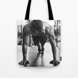 A Man At The Gym Tote Bag