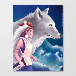 San and Moro - Princess Mononoke Canvas Print