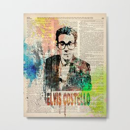 ELVIS COSTELLO #on dictionary page Metal Print