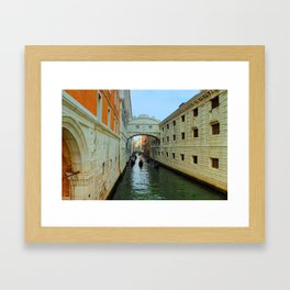 Bridge of Sighs, Venice, Italy,  in the late afternoon sun. Framed Art Print