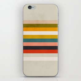 modern abstract stripe geometric iPhone Skin