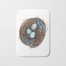 Blue Bird Nest Bath Mat