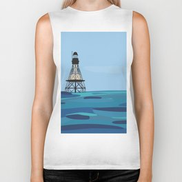 Fowey Rocks Lighthouse Biker Tank