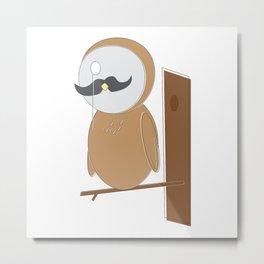 Proper Owl Man Metal Print