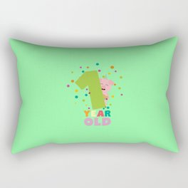One Year first Birthday Party T-Shirt D80cw Rectangular Pillow