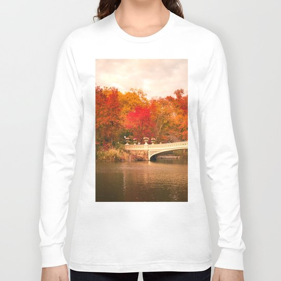 New York City Autumn Magic in Central Park Long Sleeve T-shirt