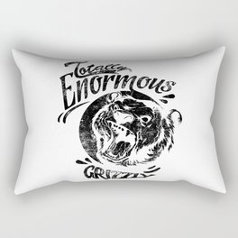 Totally enormous grizzly black artwork Rectangular Pillow