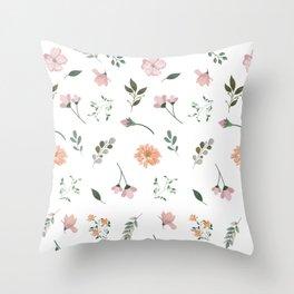 Flowers Beautiful Flower Flowerbed Gift Pink Throw Pillow