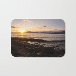 Summer Sunset Over Water Vancouver, British Columbia, Canada Bath Mat