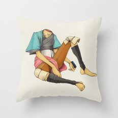 When I Was Little, My Father Was Famous. (No type) Throw Pillow
