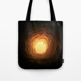 Cave, Papercut lightbox Tote Bag