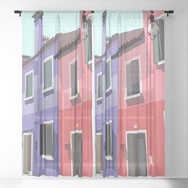 Burano houses Sheer Curtain