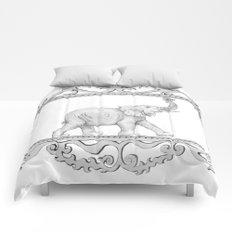 grey frame with elephant Comforters