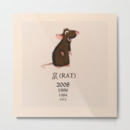 The Rat - Chinese Zodiac sign Metal Print