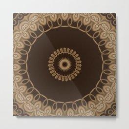 Sequential Baseline Mandala 25 Metal Print