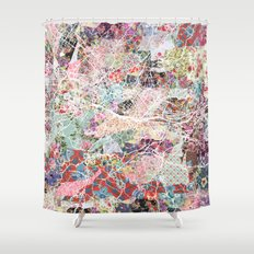 Florence map Shower Curtain