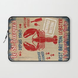 Le St-Jacques Lobster Shack Laptop Sleeve