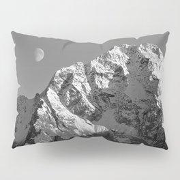 Moon Over Pioneer Peak B&W Pillow Sham