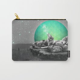Echoes of a Lullaby / Geometric Moon Carry-All Pouch