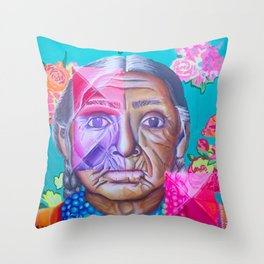 Mujer Caxcan Throw Pillow