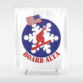 Snowboard Alta Shower Curtain