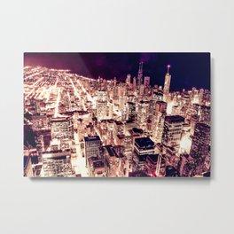 Chicago NightLight Metal Print