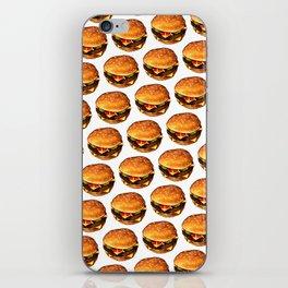Cheeseburger Pattern 2 iPhone Skin