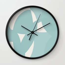Abstract in dusty light blue and neutral shades Wall Clock