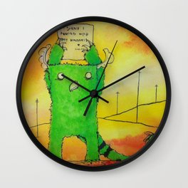 The Sorry Monster Wall Clock