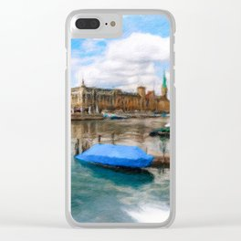 Zurich Cityscape 2 Clear iPhone Case