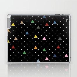 Pin Point Triangles Black Laptop & iPad Skin