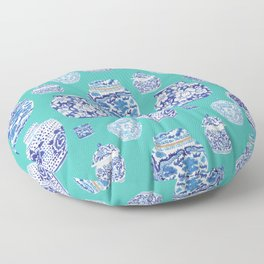 Chinoiserie Ginger Jar Collection No.5 Floor Pillow