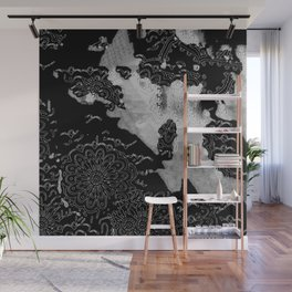 Swimming Glyphs and Sunflowers Wall Mural