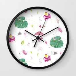 Big Green Leaf Wall Clock