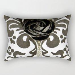 Spoon Black and White Art Rectangular Pillow