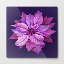 watercolor poinsettia Metal Print