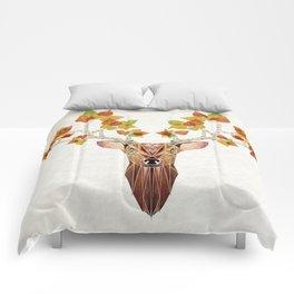 deer autumn Comforters