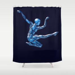 Blue Ice Dancer # Dance_Ink Shower Curtain