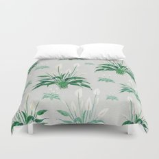 peace lily painting Duvet Cover