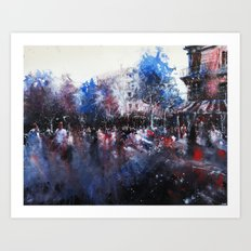 Paris painting Art Print