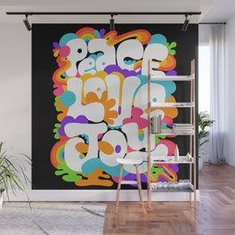 peace love joy x typography Wall Mural