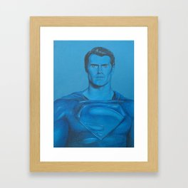 Monochromatic Man of Steel Framed Art Print