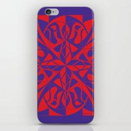 Think Mandala - Purple Red iPhone Skin