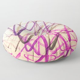 Expressive Royal Fuchsia and Lavender Abstract Floor Pillow