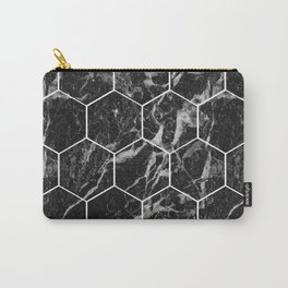 Black Campari marble - hexagons Carry-All Pouch