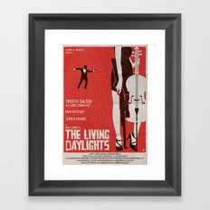 THE LIVING DAYLIGHTS Framed Art Print