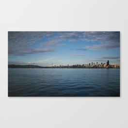 Seattle Skyline - Alki (Day Time) Canvas Print